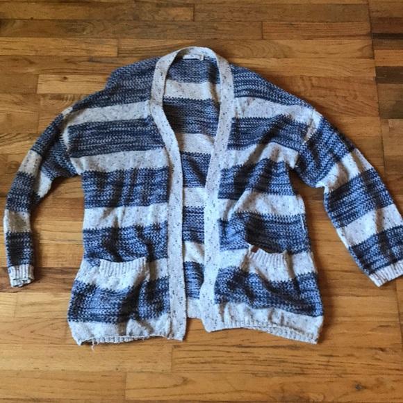 d937ab0019e6eb Obey women s striped sweater cardigan. Size M. M 5b09864b2ae12fd1da755e11